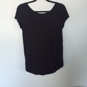 Tops - Black high to low tee shirt with pocket